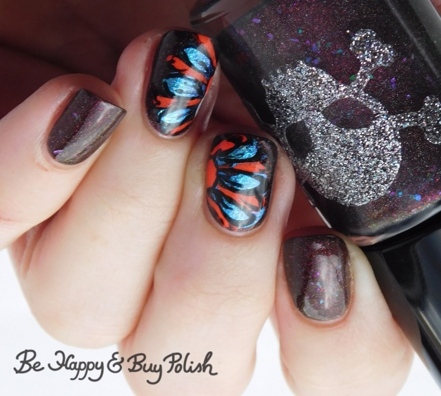 Necessary Evil Polish Zero Stones Zero Crates cold state, P.O.P Polish Slick and Slide, Moonflower Polish Popsicle, L.A. Colors Circuits thermal flower drag manicure | Be Happy And Buy Polish