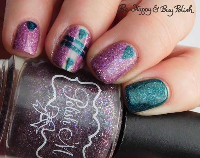 Polish 'M Bone Voyage, Hot Topic Blackheart Beauty Divine Elements Earth triangle and stripe thermal manicure warm state   Be Happy And Buy Polish