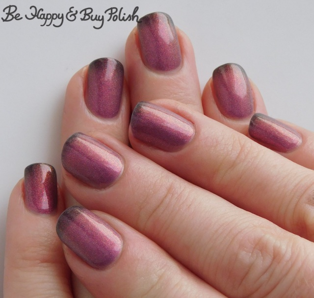 Polish 'M Snowed In thermal polish warm to cold transition full manicure | Be Happy And Buy Polish