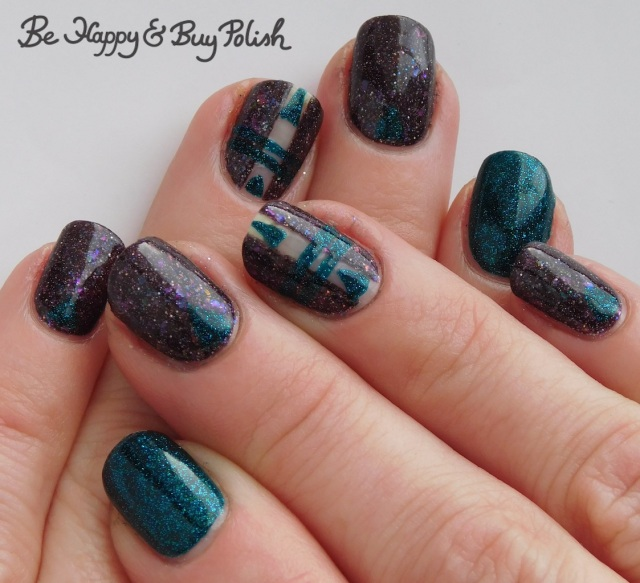 triangle and stripe thermal manicure with Polish 'M Bone Voyage, Hot Topic Blackheart Beauty Divine Elements Earth cold state | Be Happy And Buy Polish