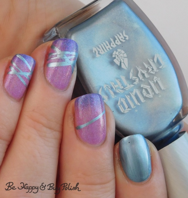 blackheart beauty liquid crystals sapphire, polish 'm chilly willy diagonal stripe thermal manicure | Be Happy And Buy Polish