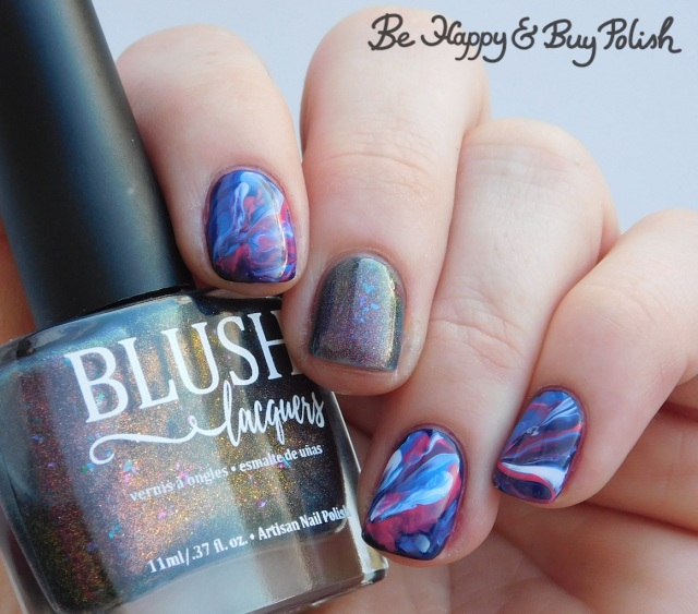blush lacquers not your average seahorse, l.a. colors spectrum, nuclear, energy, gleaming marbled nails | Be Happy And Buy Polish