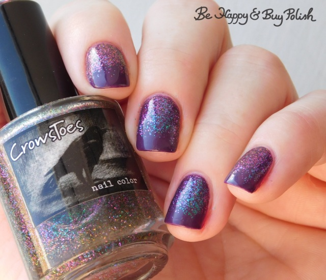 crowstoes nail color multichrome glitter prototype, max factor glossfinity amethyst glitter gradient | Be Happy And Buy Polish
