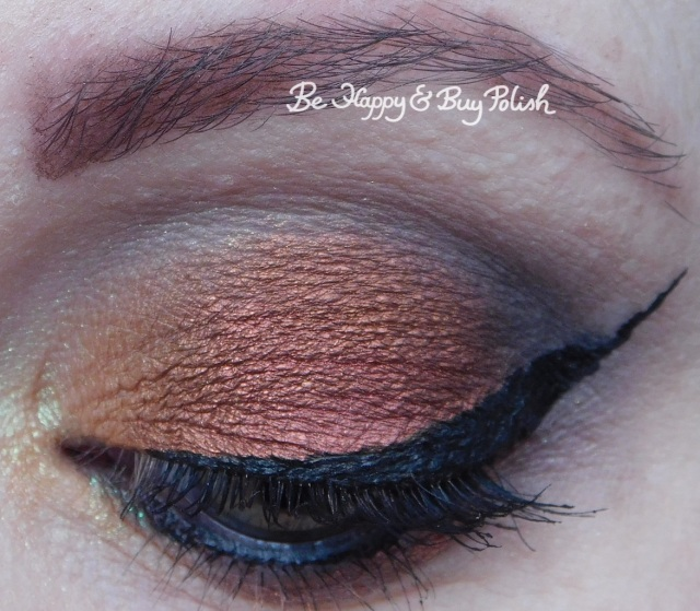 eyeshadow makeup look with notoriously morbid desire close up | Be Happy And Buy Polish