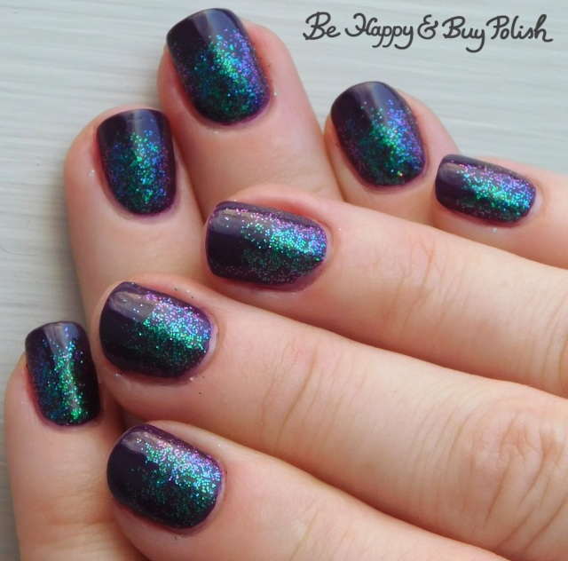 glitter gradient with crowstoes nail color and max factor glossfinity | Be Happy And Buy Polish