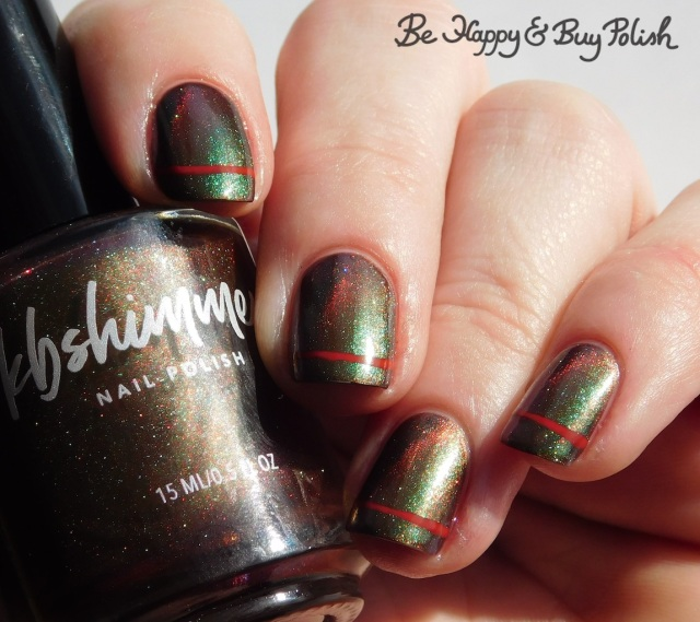 kbshimmer santa claws, la colors siren simple stripe magnetic manicure | Be Happy And Buy Polish