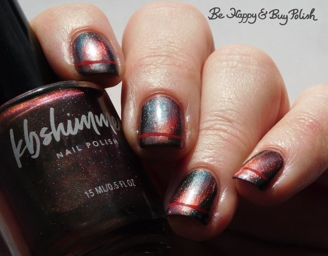 kbshimmer santa claws magnetic nail polish, la colors siren simple stripe manicure | Be Happy And Buy Polish