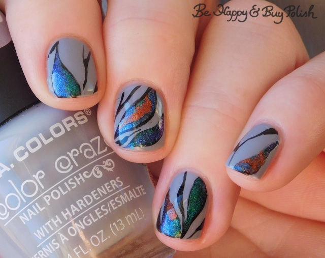 l.a. colors blankie, tonic polish mirabilis, kbshimmer space-ial edition, bpolished jellicle queens magnetic abstract manicure   Be Happy And Buy Polish