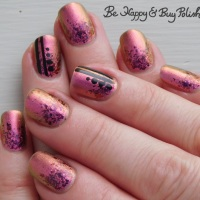 Multichrome Glitter Gradient Manicure with KBShimmer and P.O.P Polish