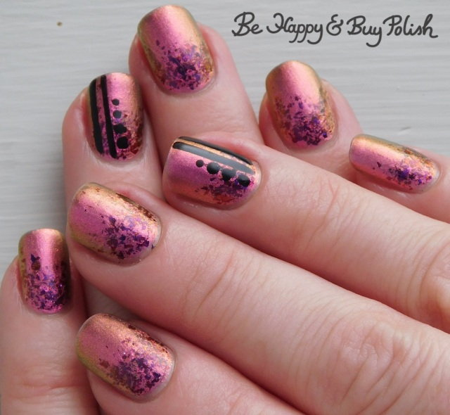 multichrome flakie gradient manicure with pop polish and kbshimmer | Be Happy And Buy Polish