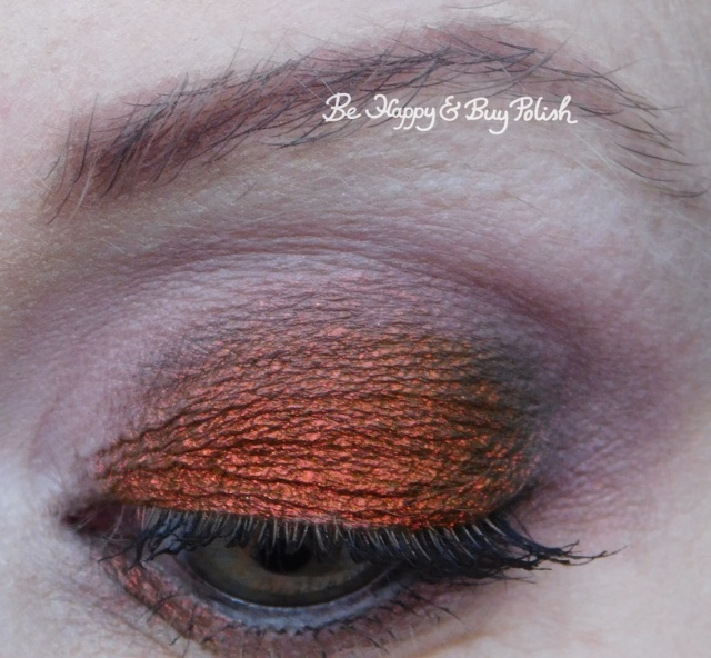 notoriously morbid desire, makeup revolution wholesome, melody, flash, sass, fame eyeshadow makeup look close up | Be Happy And Buy Polish