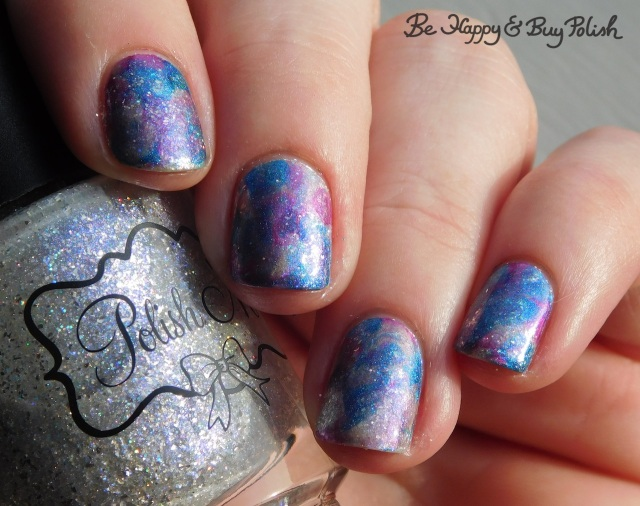 polish 'm at frost glance, crowstoes just another gravitational wave, l.a. colors unpredictable, space cadet saran wrap manicure | Be Happy And Buy Polish
