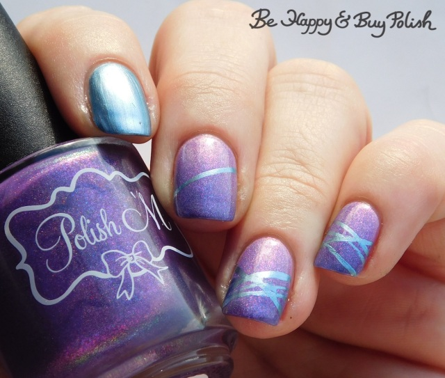 polish 'm chilly willy, blackheart beauty liquid crystals sapphire diagonal stripe thermal manicure cold state | Be Happy And Buy Polish