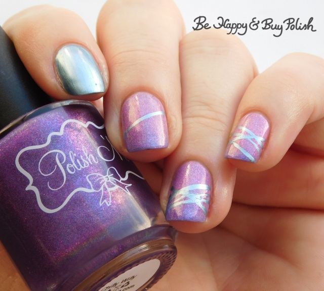 polish 'm chilly willy, blackheart beauty liquid crystals sapphire diagonal stripe thermal manicure | Be Happy And Buy Polish