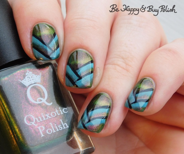 quixotic polish another glorious morning september 2018 polish pickup pack, l.a. colors glows lucent fishtail braid manicure | Be Happy And Buy Polish