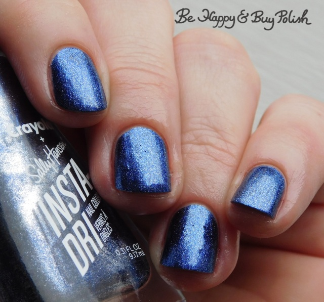sally hansen x crayola instadri b'dazzled blue | Be Happy And Buy Polish