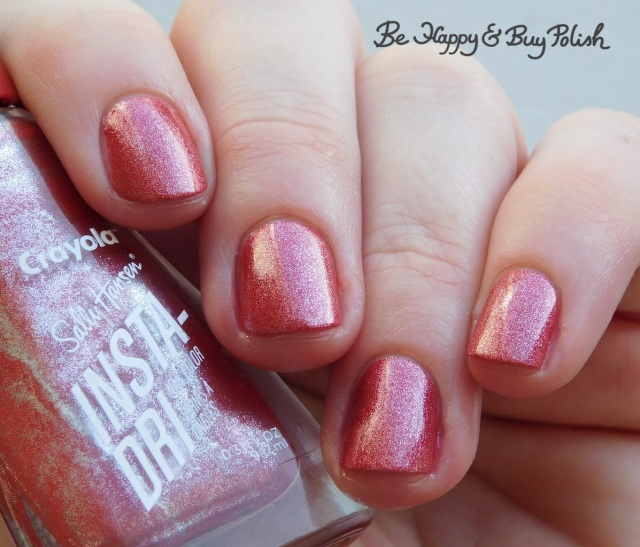 sally hansen x crayola instadri bittersweet shimmer | Be Happy And Buy Polish