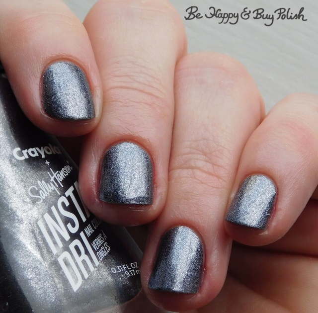 sally hansen x crayola instadri deep space sparkle | Be Happy And Buy Polish