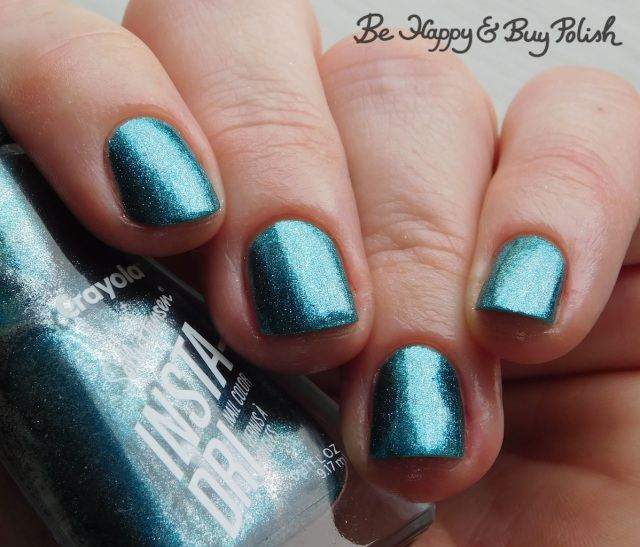 sally hansen x crayola instadri metallic seaweed | Be Happy And Buy Polish