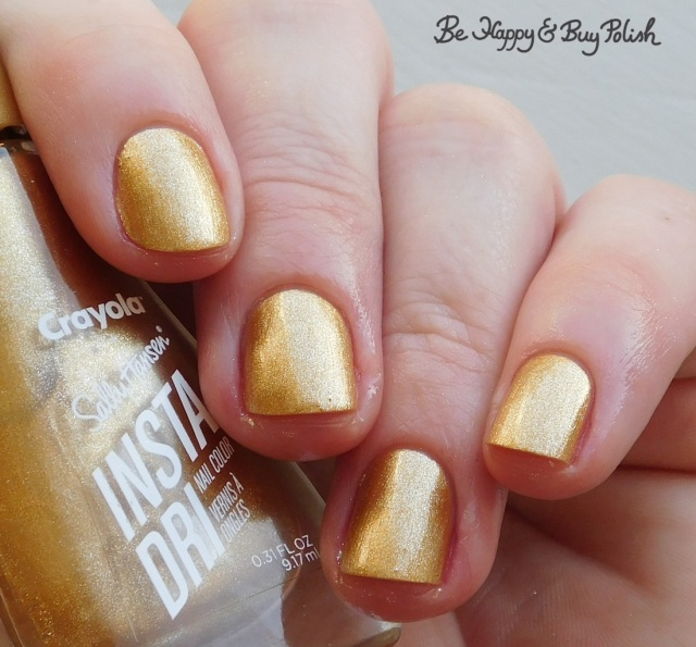 sally hansen x crayola instadri metallic sunburst | Be Happy And Buy Polish