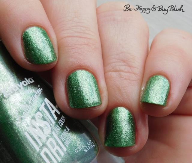 sally hansen x crayola instadri sheen green   Be Happy And Buy Polish