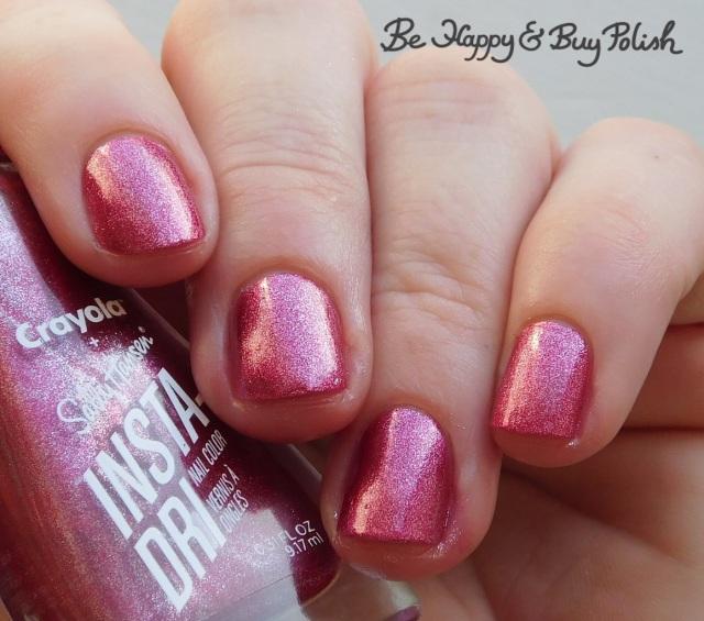 sally hansen x crayola instadri shimmering blush | Be Happy And Buy Polish