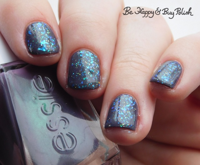 essie Twill Seeker, Sinful Colors Green Ocean, L.A. Colors Sassy Sparkle glitter manicure | Be Happy And Buy Polish