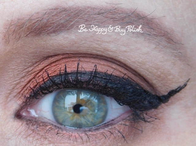 eyeshadow look with Saucebox Cosmetics Inferno, Beaming, Caramel, Notoriously Morbid Desire | Be Happy And Buy Polish