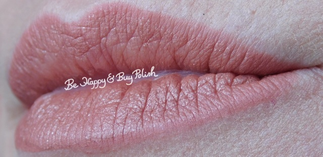 Maybelline Super Stay Matte Ink in Seductress, Nyx Cosmetics Liquid Suede in Exposed lip swatch | Be Happy And Buy Polish