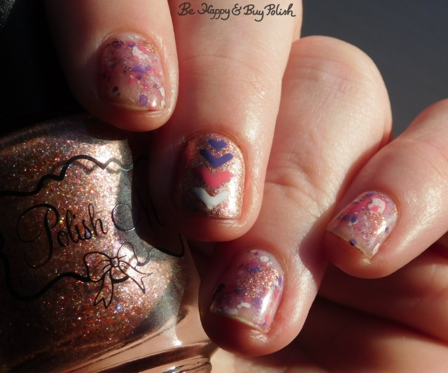 Polish 'M Say It Ain't Snow, Formula X Indelible, L.A. Colors Energy Source, CND Creative Play Read My Tulips splatter manicure | Be Happy And Buy Polish