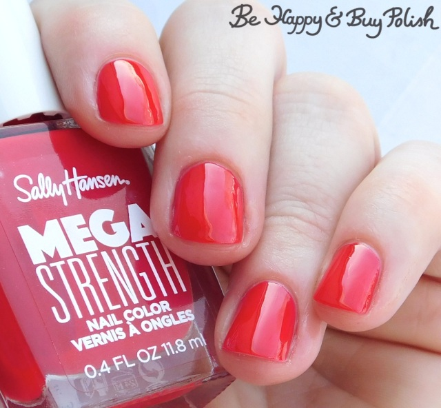 Sally Hansen Mega Strength nail polish Class Act | Be Happy And Buy Polish