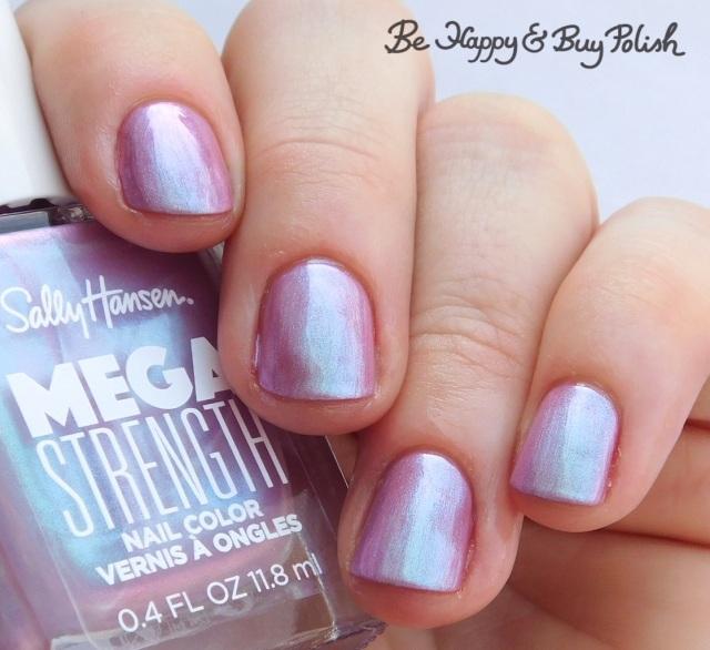 Sally Hansen Mega Strength nail polish Persis-tint over She-Ro | Be Happy And Buy Polish