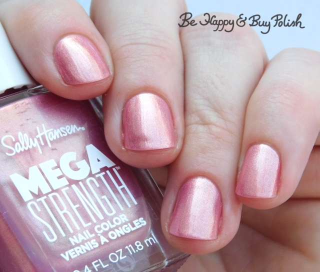 Sally Hansen Mega Strength nail polish Rise Up | Be Happy And Buy Polish