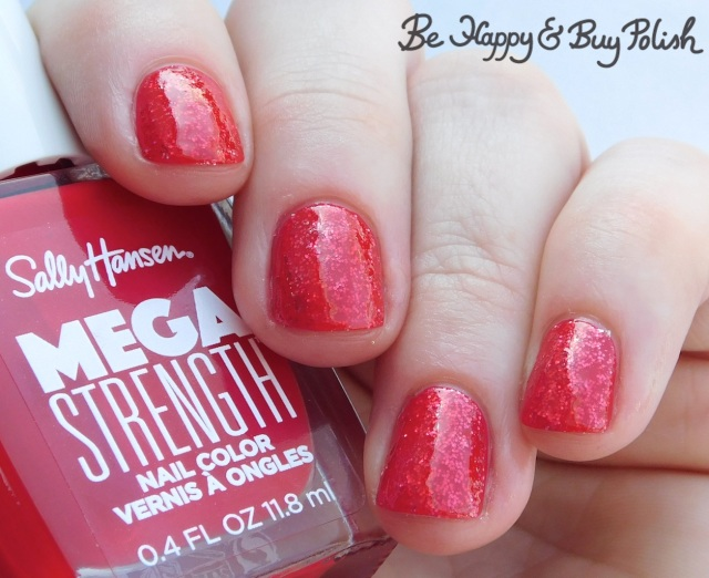 Sally Hansen Mega Strength nail polish Wild Card, Class Act jelly sandwich | Be Happy And Buy Polish