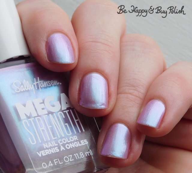 Sally Hansen Mega Strength Persis-tint 5 day wear test | Be Happy And Buy Polish