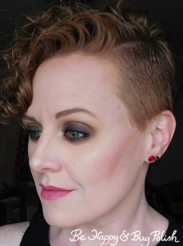 smokey eye dramatic makeup look for redheads with Anastasia Beverly Hills Subculture eyeshadow palette and Maybelline Super Stay Matte Ink in Lover   Be Happy And Buy Polish