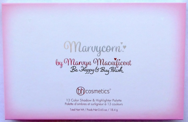 bh Cosmetics Marvycorn by Marvyn Macnificent eyeshadow and highlighter palette | Be Happy And Buy Polish