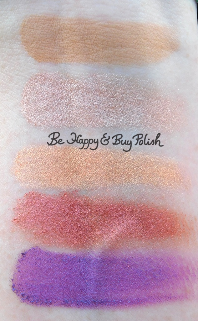 bh Cosmetics Marvycorn by Marvyn Macnificent Flodder, Muddi, Honeyboboo, k bye, Bahamas eyeshadows swatches | Be Happy And Buy Polish