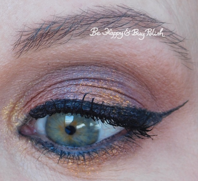 eyeshadow look with becca Red Rock, Cloud, Midnight Sapphire, Lava, Gilded close up | Be Happy And Buy Polish