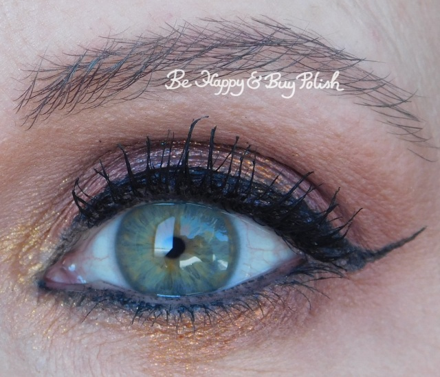 eyeshadow look with becca Red Rock, Cloud, Midnight Sapphire, Lava, Gilded | Be Happy And Buy Polish