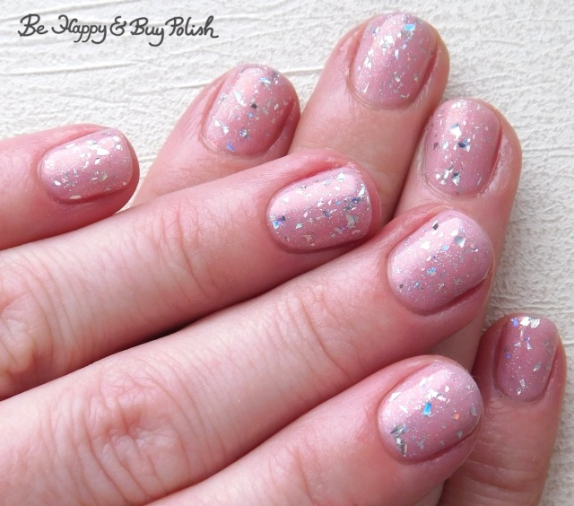 glitter manicure with L.A. Colors Shimmer Mist, Necessary Evil Polish Norepinephrine | Be Happy And Buy Polish