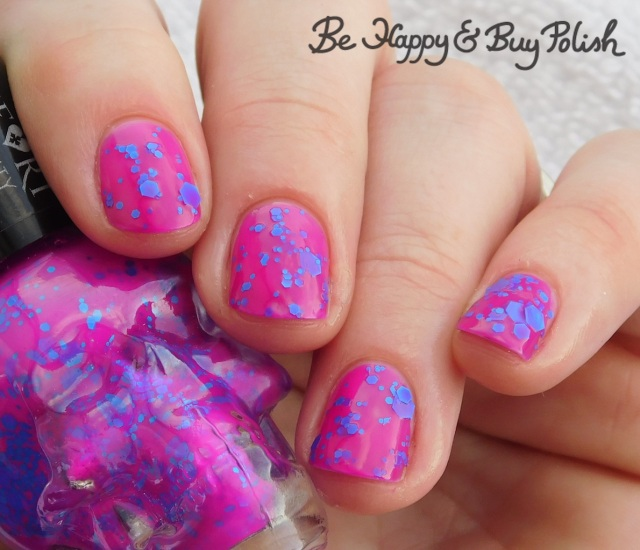 Hot Topic Blackheart Beauty Violet with Blue Glitter   Be Happy And Buy Polish