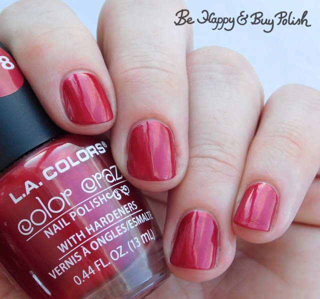 L.A. Colors Color Craze Crimson | Be Happy And Buy Polish