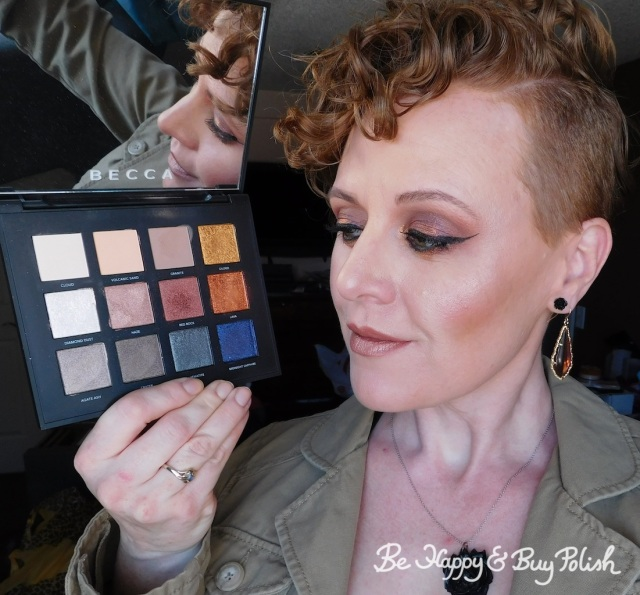 makeup with becca Volcano Goddess eyeshadow palette | Be Happy And Buy Polish