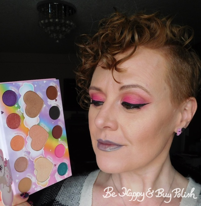 makeup with bh Cosmetics Marvycorn by Marvyn Macnificent eyeshadow palette | Be Happy And Buy Polish