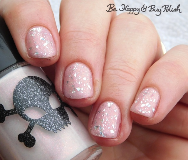 Necessary Evil Polish Norepinephrine, L.A. Colors Shimmer Mist glitter manicure | Be Happy And Buy Polish