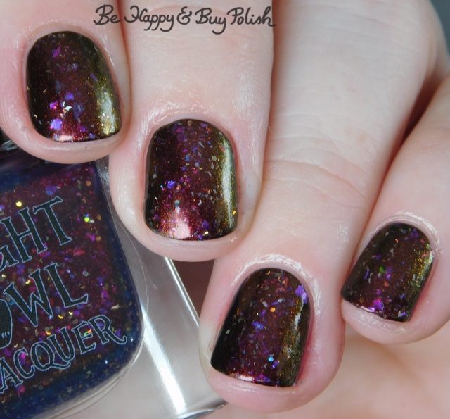 Night Owl Lacquer Love Is Powerful Magic February 2019 PPU close up | Be Happy And Buy Polish