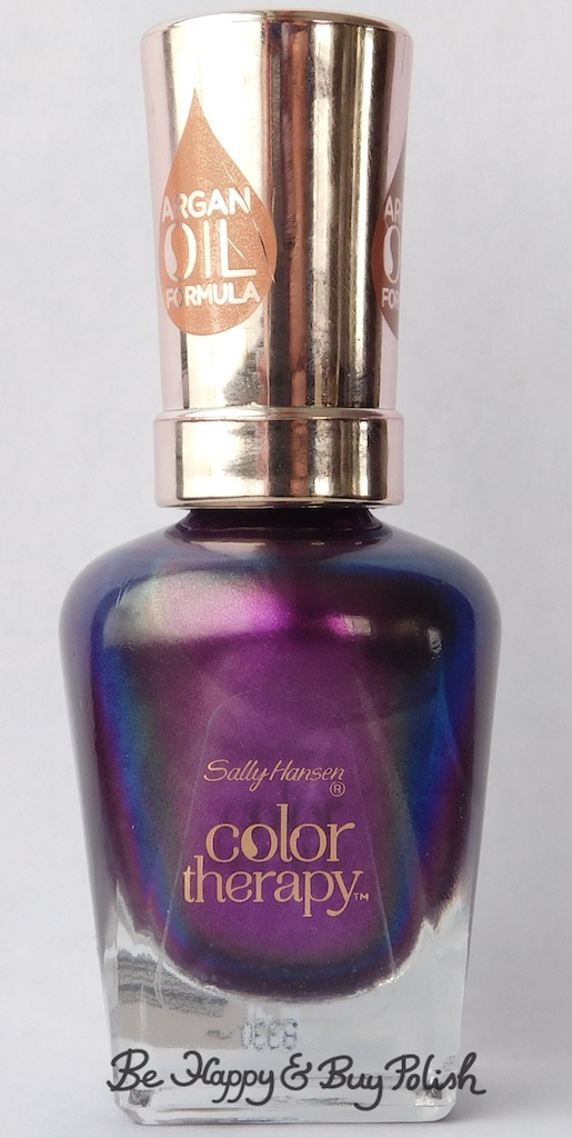Sally Hansen Color Therapy Plum Euphoria bottle shot | Be Happy And Buy Polish