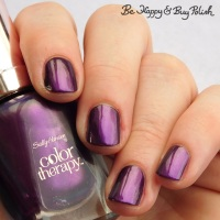 Sally Hansen Color Therapy Plum Euphoria swatch + review