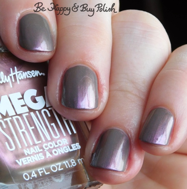 Sally Hansen Mega Strength Always Extra over Here To Slay close up | Be Happy And Buy Polish